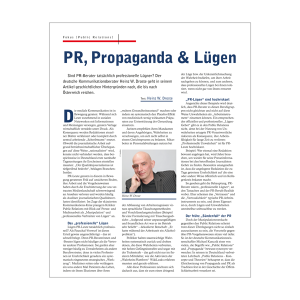 Heinz W. Droste - PR, Propaganda & Lügen